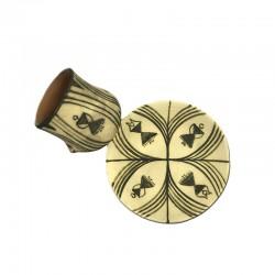 Set ceașcă și farfurie din ceramică de Cucuteni - Marea Zeiță