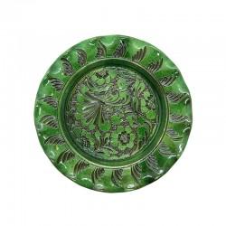 Farfurie din ceramică verde de Corund