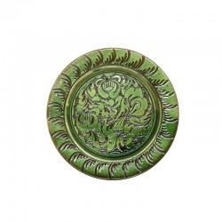 Farfuriuță din ceramică verde de Corund