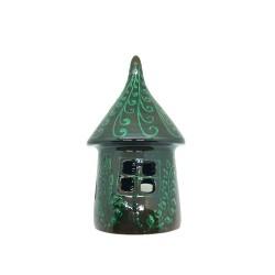 Candelă din ceramică verde de Corund