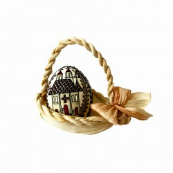 Ou închistrit în coșuleț de pănușă