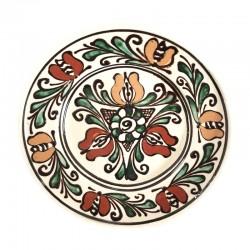 Farfurie din ceramică albă de Corund