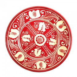 Farfurie din ceramică roșie de Corund