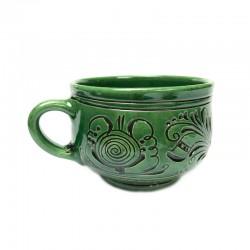 Cană din ceramică verde de Corund
