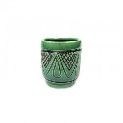 Păhărel din ceramică verde de Corund