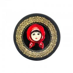 Farfurie pictată din ceramică neagră de Marginea