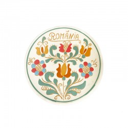 Farfurie din ceramică nesmălțuită de Corund