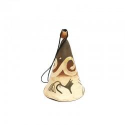 Clopoțel din ceramică de Cucuteni - Lupul Sacru