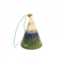 Clopoțel colorat din ceramică de Cucuteni