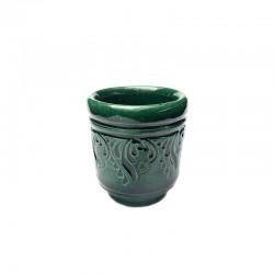 Păhărel din ceramică verde de Corund M5517