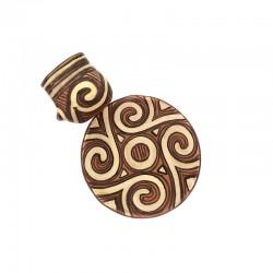 Set ceașcă și farfurie din ceramică de Cucuteni - Spirala Vieţii
